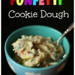 Edible Funfetti Cookie Dough