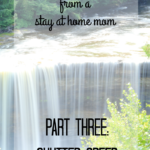 Photography Series: Tips from a Stay at Home Mom [Part Three-Shutter Speed]