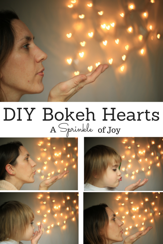 Check out this quick and simple tutorial for making your own bokeh hearts. A great idea for Valentine's Day!