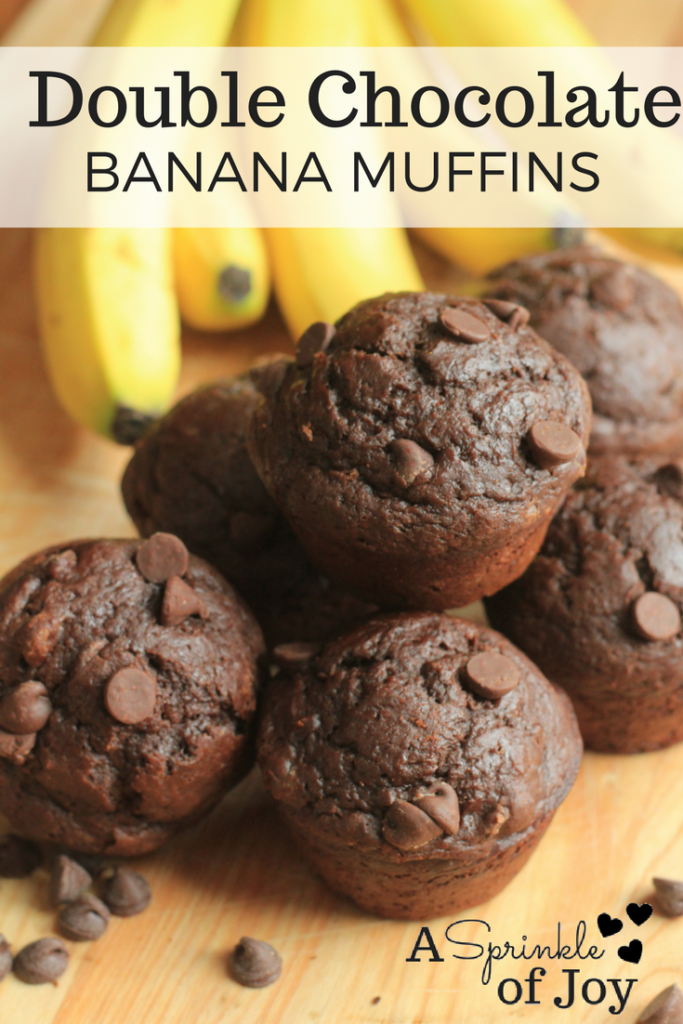 Looking to use up those brown bananas? Check out this double chocolate banana muffin recipe. Complete with Nutella.