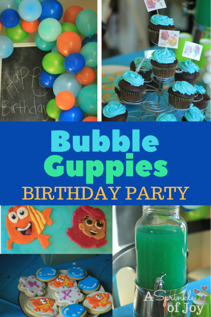 Quick and simple ideas for planning a Bubble Guppies themed birthday party.