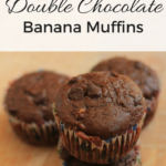 Double Chocolate Banana Muffins {Egg Free}
