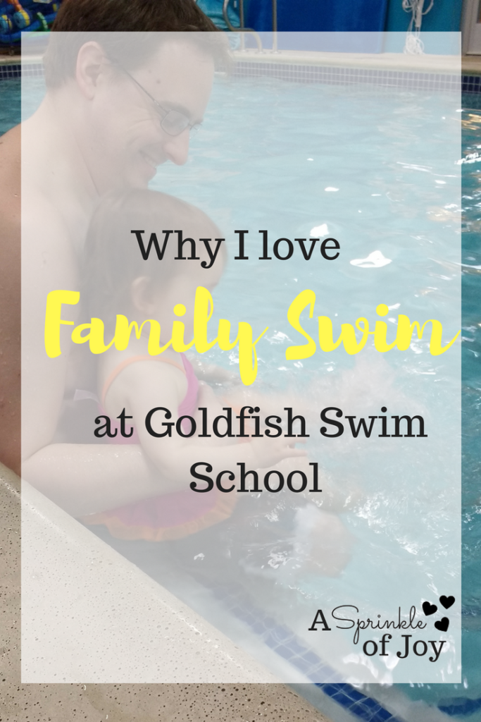 Family swim time at Goldfish Swim School is a great chance to spend time together while working on skills.  #sponsored