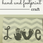 Love canvas {chevron hand and foot print craft}