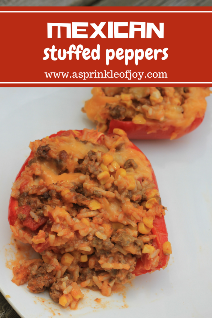 Mexican Stuffed Peppers- This is a quick, easy and cheese dish!