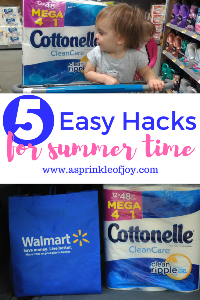 #ad #sponsored Shop for Cottonelle at Walmart to make sure you #NeverRunOut! Plus check out my 5 hacks for an easy summer!