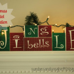 DIY Christmas Mantel Decoration