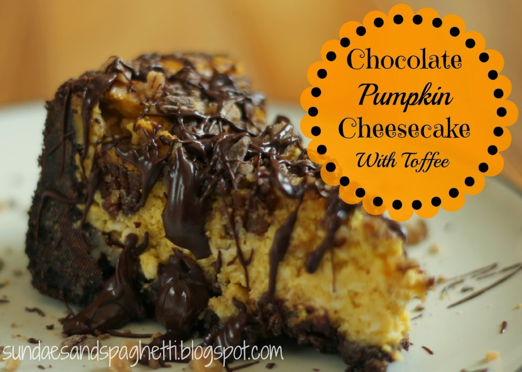 Chocolate Pumpkin Cheesecake - A Sprinkle of Joy