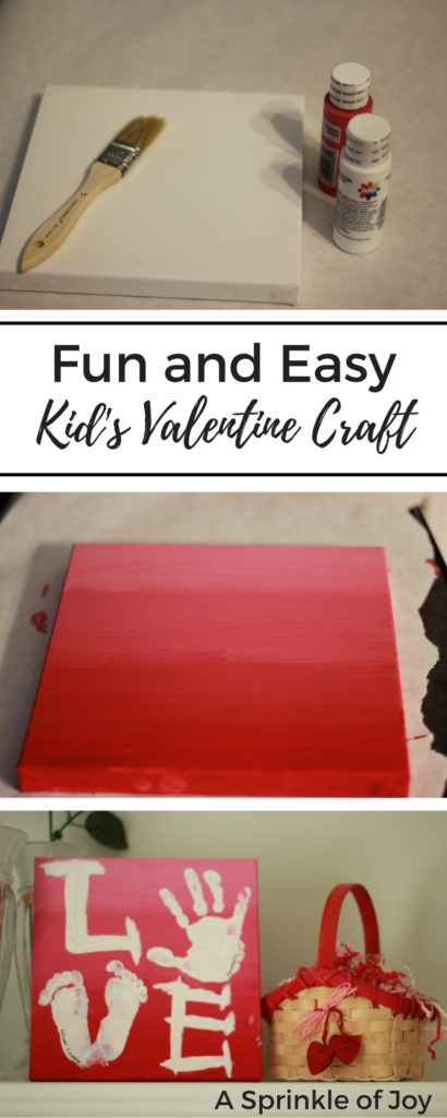 Need a fun and simple craft to do with your kids for Valentine's Day? Check out this simple handprint craft!  Great for gifts for mom or Grandmas.