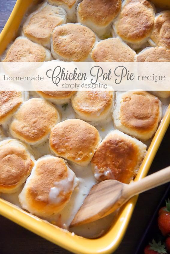 Easy-Homemade-Chicken-Pot-Pie-Recipe-with-Biscuit-Top