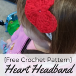 Crochet Heart Headband [Free Pattern]