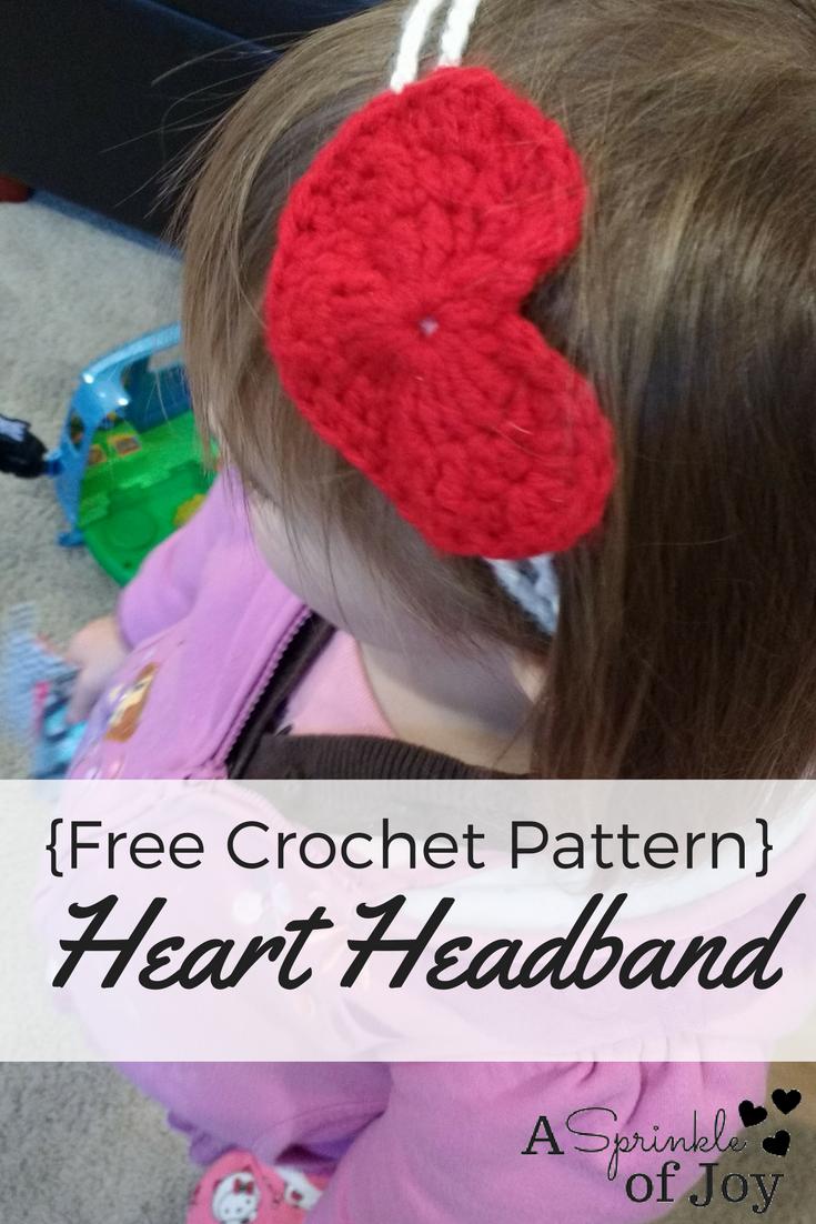 Crochet Heart Headband Free Pattern A Sprinkle Of Joy