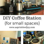 DIY Coffee Station {for small spaces}