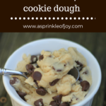 Edible Chocolate Chip Cookie Dough {Egg Free}