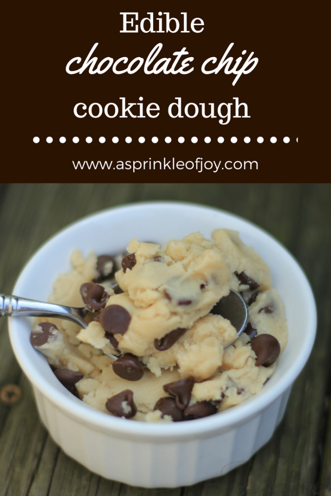 Egg free, safe to eat , chocolate chip cookie dough, for two.  Quick and easy to make!