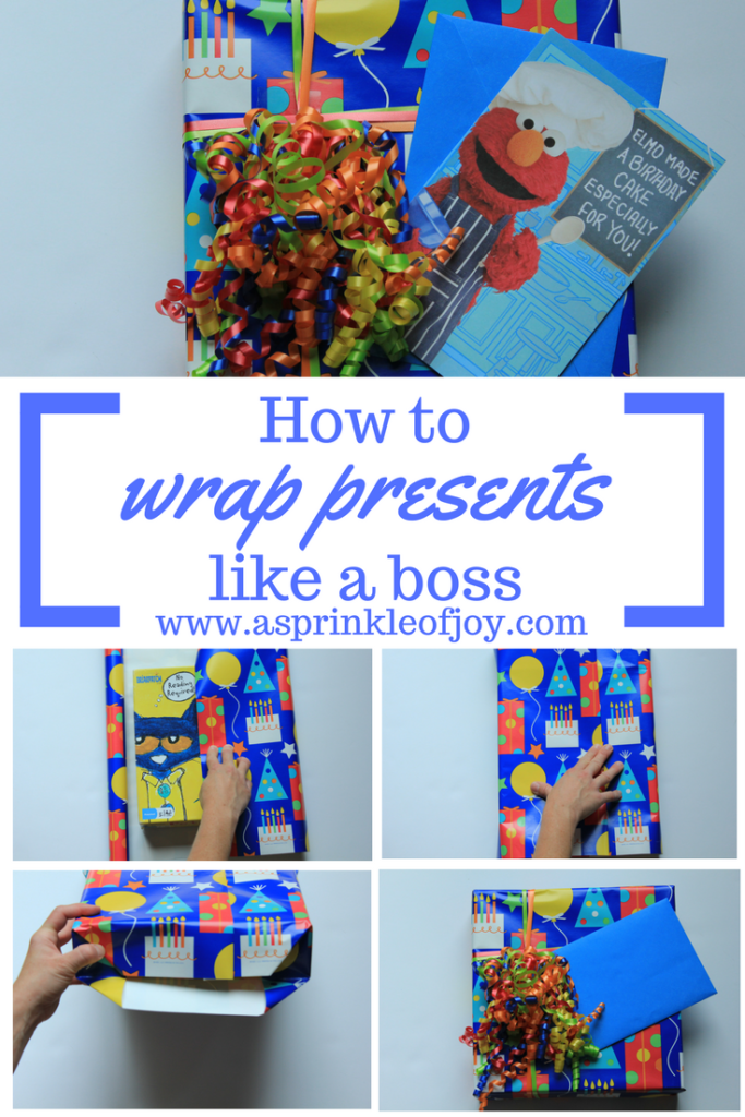 #ad Learn how to wrap presents like a boss with this tutorial. #BirthdaysMadeBrighter