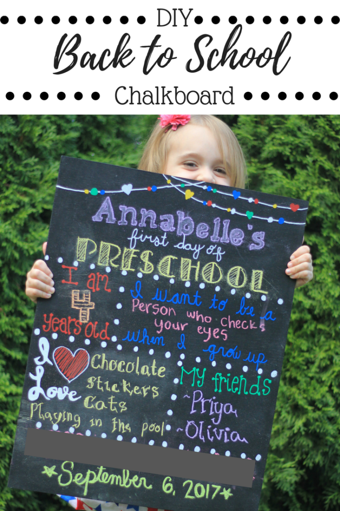 A DIY back to school chalkboard that you can reuse.  Includes free PDF patterns. Easy to make!