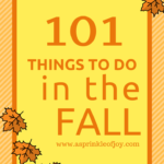 101 Things to do in the Fall