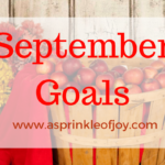 August Recap and September Goals