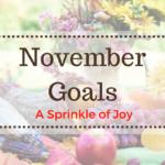 October Recap and November Goals