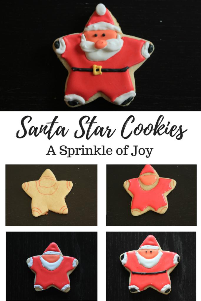 How To Decorate Santa Star Cookies A Sprinkle Of Joy