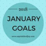 January Goals {2018}